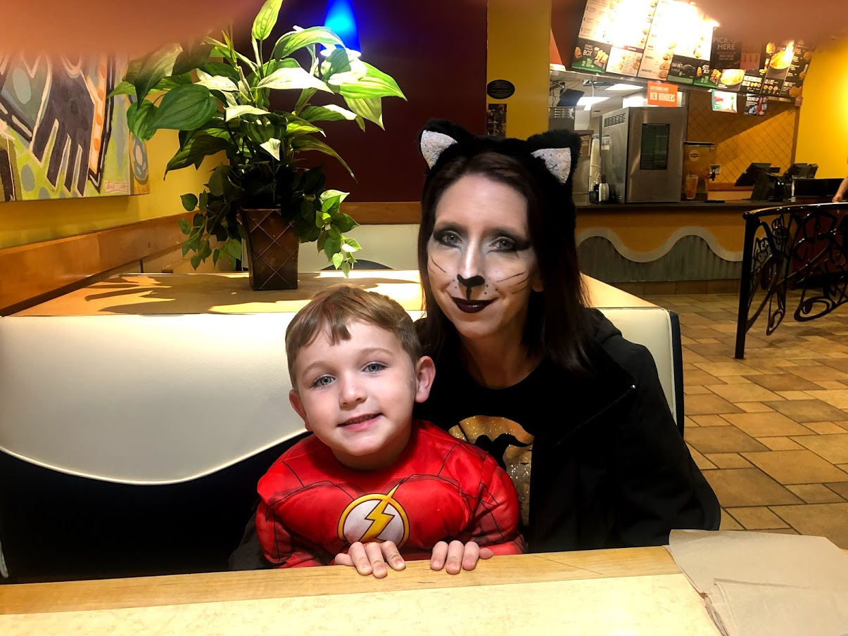 mother and son halloween