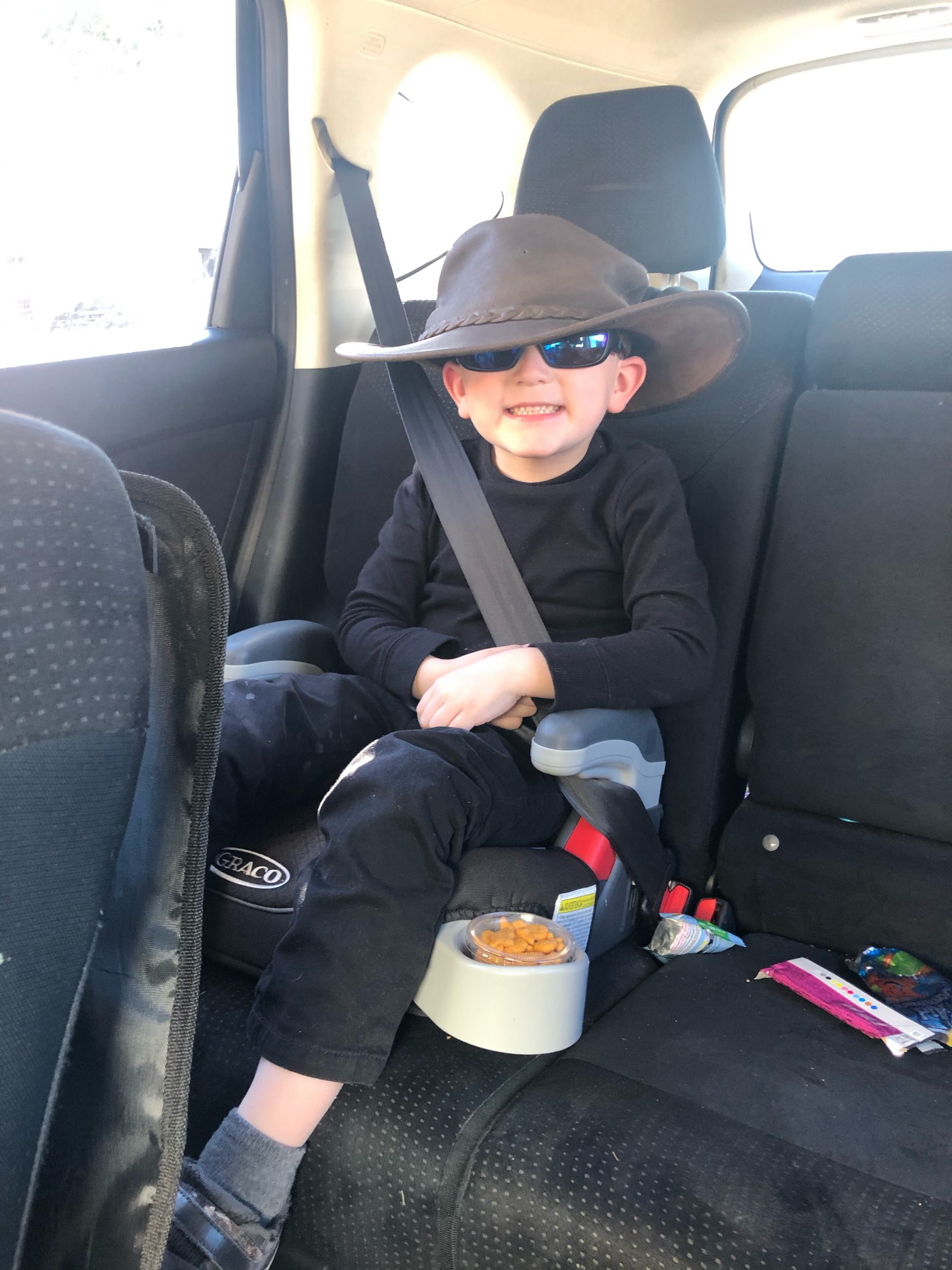 child with hat
